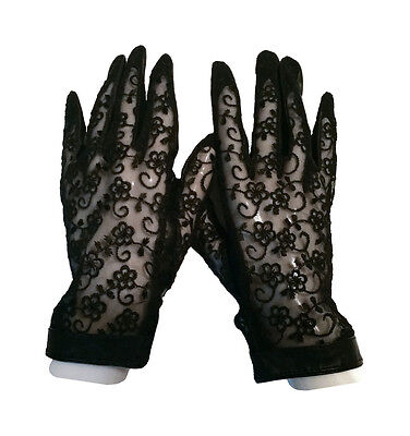 Women's Leather & Lace Gloves