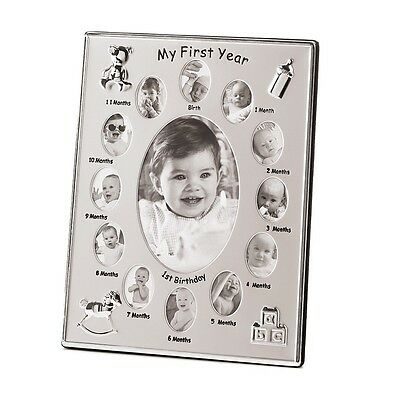 My First Year Photo Frame Baby Gift Shower Pictures Memories Treasures