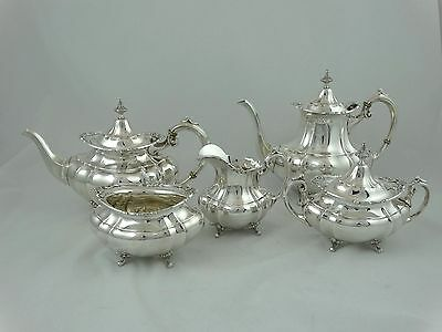 "Reed & Barton ""Hampton Court"" Sterling Silver 5 Piece Coffee/Tea Service"