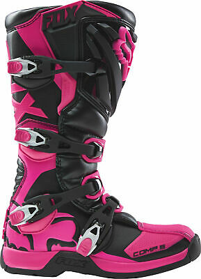 New 2017 Fox Racing Comp 5 Youth Mx Offroad Boots Pink All Sizes -Youth