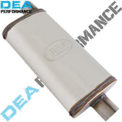 """5X8X14"""" Stainless Steel Sports Muffler - Universal Fitment - 2"""" Inlet/outlet"""