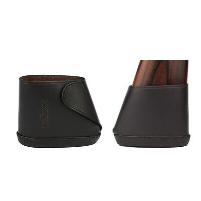 Tourbon Butt Stock Holder Slip-on Recoil Pad Genuine Leather Hunting Small Cheek