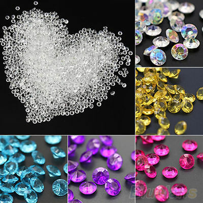 2000pcs 4.5mm Acrylic Crystal Diamond Confetti Table Scatters Clear Vase Fillers