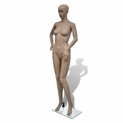 "69"" Female Mannequin Full Body PE Realistic Display Head Turn Dress Form w/ Base"