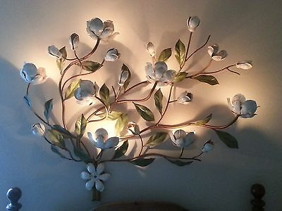 Vintage Mid Century Tole Wall Sconce