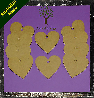 Mdf Heart Shapes Assorted Sizes Laser Cut - Unlimited Quantities Available