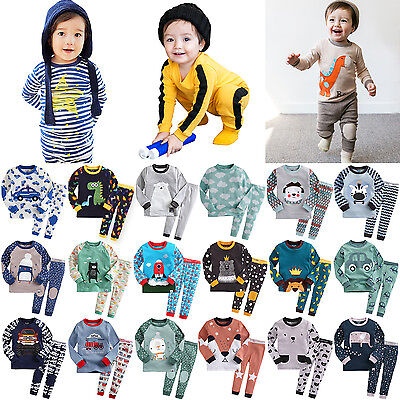 """50Styles"" Vaenait Baby Infant Toddler Boys Clothes Sleepwear Pajama Set 12M-7T"