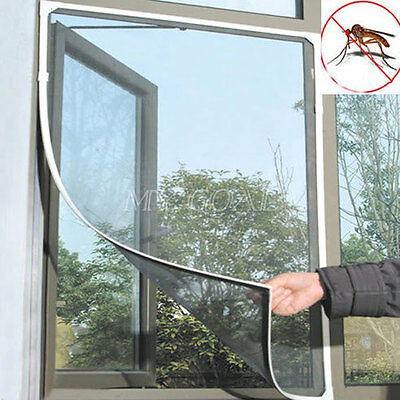 2x Insect Window Net Fly Mosquito Bug Netting Mesh Screen Door Curtain Flyscreen