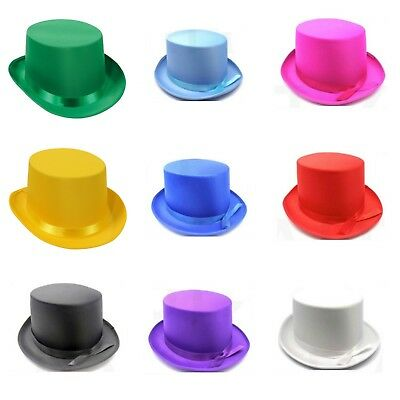 Adult Quality Satin Top Hat Magician Victorian Gentleman Ring Master Steampunk