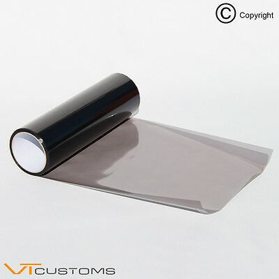 30cm x 120cm Light Smoke Black Tint Film Headlights Tail lights Car Vinyl Wrap