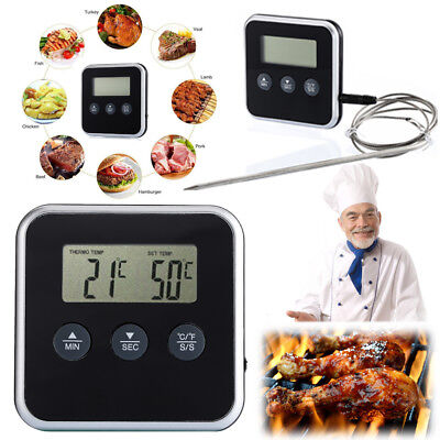 Digital Probe Food Cooking Timer Kitchen BBQ Oven Grill Meat Thermometer Tool