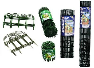 Garden Easy Border Fence PVC Coated Green Lawn Decoration Outdoor Patio Sizes