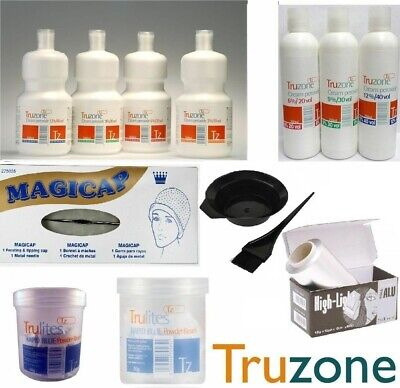 Truzone Cream Peroxide-Rapid Blue/white Powder Bleach Hair Colour Accessories