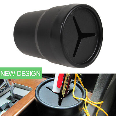 Car Pen Holder Coin Tool Boxes Mount Trash Rubbish Bin Auto Holders Cup Candy
