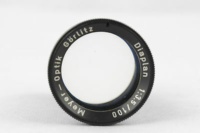 Meyer Optik Görlitz Diaplan 3,5/100mm projection lens 32,5mm diameter