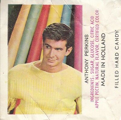 Rare Vignette Prime Bonbons 60's *acteur / Anthony Perkins* (Made In Holland)
