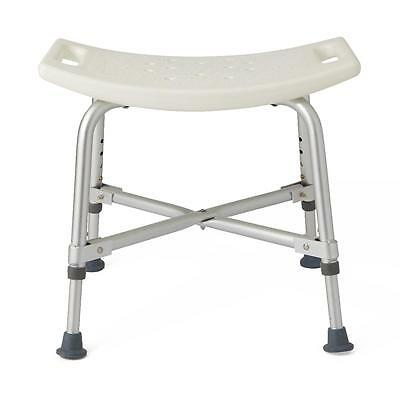 "Medline Bariatric Bath Bench without Back Adjustable 14""-17"" 550lb Capacity 1"