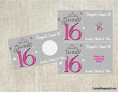 FAIRYTALE CASTLE WEDDING Birthday Party Scratch Off Tickets