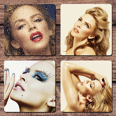 Kylie Minogue Coaster Set NEW Kiss Me Once Tour Into the Blue Right Here Now