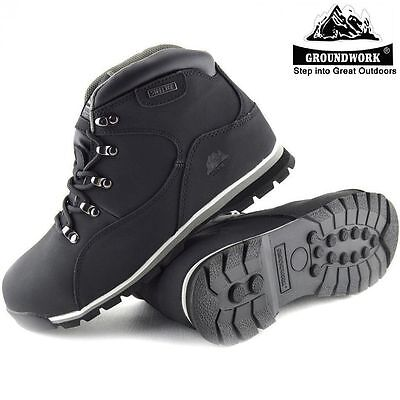 Mens Groundwork Black Lightweight Steel Toe Cap Safety Work Boots Shoes Trainers