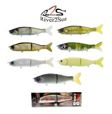 River2Sea S-Waver 168 Jointed Glide Bait Bass Striper Musky Lure Select Color