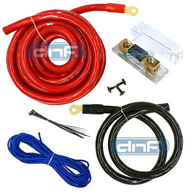 0 Gauge Power Amp Kit Amplifier Wiring Install 6000W - Priority Shipping Today!