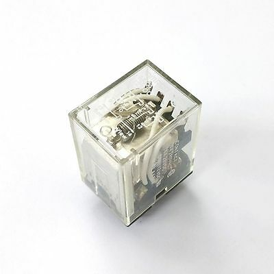 NEW 4PDT 12V DC Coil Relay, 5A @ 250V AC, 28V DC Contacts