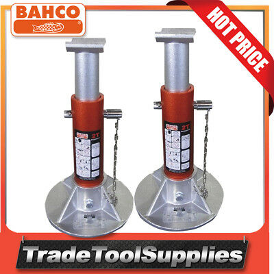 Bahco 2 Tonne Aluminium Light Weight Jack Axle Stands BH3AOZ2000