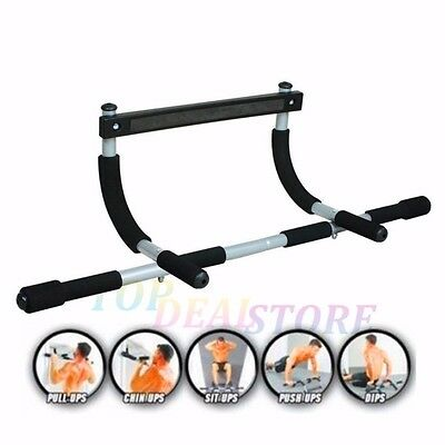 Portable Chin Up Bar Home Wall Mounted Dip Pull Doorway Home Fitness Exerciser