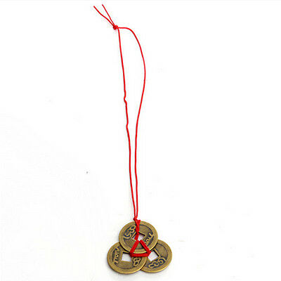 Hot 2 Set Of 6 Chinese Feng Shui Coins For Wealth And Success Good Luck Holder