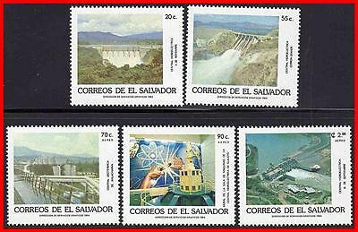 Salvador 1984 Industrial Development Sc#1006-10 Mnh Dams, Atom, Bridges E13
