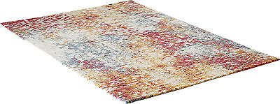 Designer Modern Valuable Rug Fog Multicolour Multi Checkered Oeko Tex