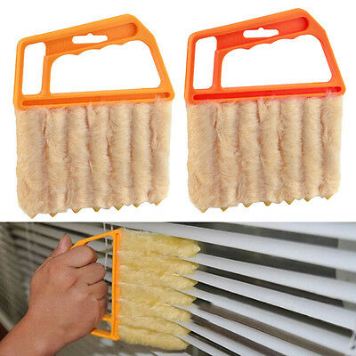 Microfibre Venetian Blind Blade Cleaner Window Conditioner Duster Clean Brush