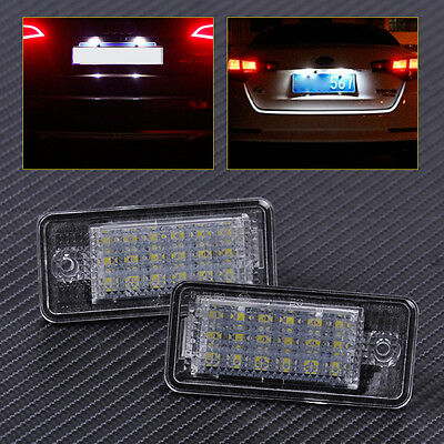 2pcs for Audi A3 A4 A5 A6 A8 Q7 Error Free 18 LED License Plate Lights Lamp