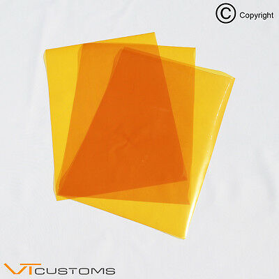 3 x A4 sheets - Orange Headlight Film for Fog Lights Tint Smoke Car Vinyl Wrap
