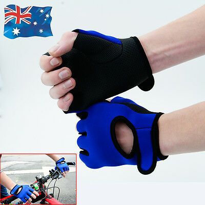 Glove Gym Gloves Weight LiftingTraining Fitness Workout Wrist Wrap Exercise  New