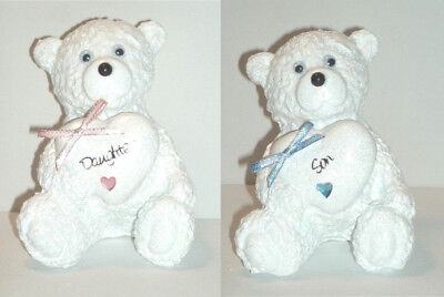 Personalised Grave Memorial Ornament Teddy Bear Girl Boy Cemetery Garden Tribute