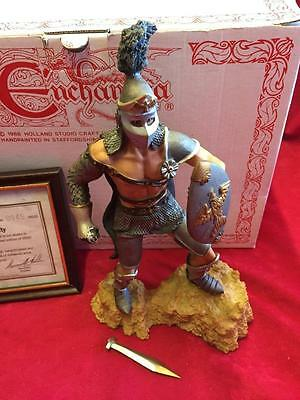 Vintage Enchantica Mythical Figure- Gladiator Thrace Boxed With Coa