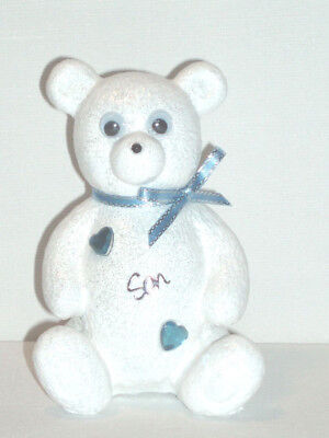 Personalised Teddy Bear Boys Grave Memorial Graveyard Graveside Tribute Ornament