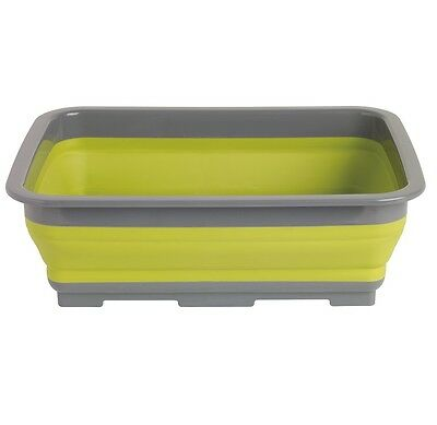 Outwell Collaps Washing Up Bowl Green / Camping Collapsible Bowl