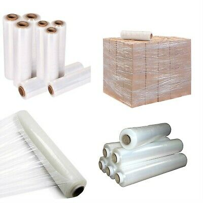 6 X Strong Rolls Clear Pallet Stretch Shrink Wrap Parcel PACKING CLING FILM 17Mu