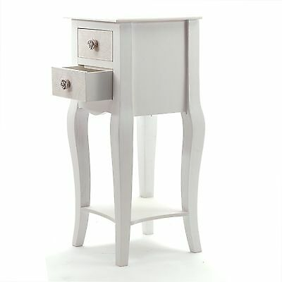 """DESIGN TELEPHONE TABLE """"SISSY""""   2 drawers, antique-white   sidetable"""