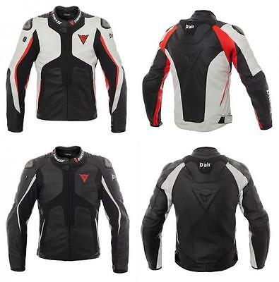 Giacca Moto Pelle Dainese D-Air Misano 1000