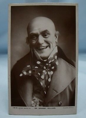 BRANSBY WILLIAMS Antique Music Hall Theatre Comedy Actor REAL PHOTO POSTCARD