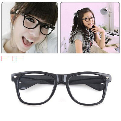 Fashion Black Frame Geek Elegant Eyeglasses Glasses No Lens Fancy Dress Nerd