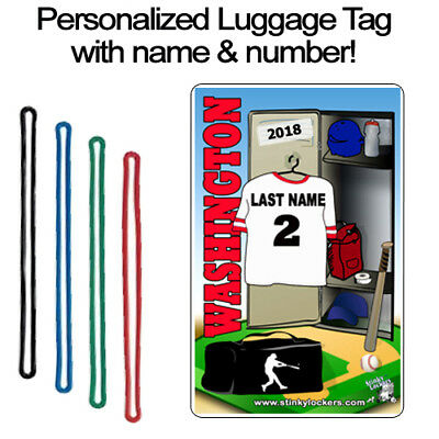 Personalized Washington Baseball Luggage Tag