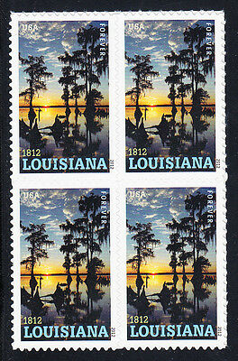 Louisiana Statehood Stamp Block of 4, Scott #4667, MNH