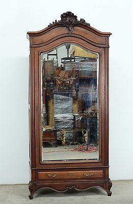 11599-1 : Antique French Louis XV Style Single Door Armoire Wardrobe