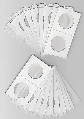 """LIGHTHOUSE 32.5mm SELF ADHESIVE 2""""x 2"""" COIN HOLDERS x 20 - SUIT PENNY/FLORIN"""