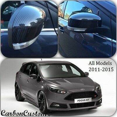 Ford Focus MK3 Real Carbon Fibre Wing Mirror/Door Mirror Covers (PAIR) *UK*